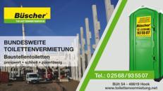 DEUTSCHLANDWEIT mieten: Toilette - BAU-WC | bauklo24.de