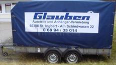 Pkw-Anhänger,Planenanhänger und Autotransporter mieten bei Autoersatzteile Glauben in 66386 St. Ingbert