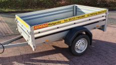 Anhänger ungebremst, zul. Gesamtgewicht 750 kg, Ladefläche 2,03 x 1,28 x 0,40 m