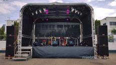 Mobile Bühne und Bühnentechnik, Veranstaltungsbühne, Bühnendach, Rundbogenbühne 6,00 x 4,00 m
