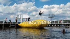 Sprungkissen, Luftkissen mit Turm, Funsport