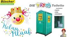 Toilette für Karneval, Toilettenvermietung, Partytoilette, GRATIS Lieferung deutschlandweit