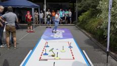 Eisstockbahn, Eisstockschießen, Curling