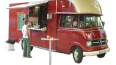 Kaffeebar-Mobil / Promotion-Fahrzeug / Mercedes 316 / Kaffeemobil / Catering / Event / Messe / Party / mobile / oldtimer