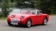 Oldtimer / Austin Healey Sprite / Auto / Cabrio / Sportwagen / Frosch