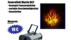 Feuereffekt  Martin DC 2 , Feuerprojektion, Feuereffekt , Deko, Flamelight