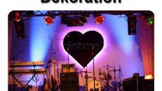 HERZ (1,8m) Bühnendekoration Hochzeitsdekoration