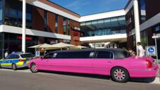 Pink Limousine Stretchlimousine Mieten Party junggesellinnenabschied Ladys night