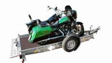 WOM - absenkbarer Motorrad Anhänger 1500kg