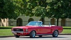 Oldtimer Ford Mustang Cabrio Rot Bj 67 Hochzeitsauto Mieten
