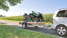 Motorrad Anhänger 301 x 183 cm für 3 Motorräder