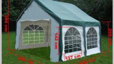 Zelt - Pavillon 3 x 4 m grün = 12 m²