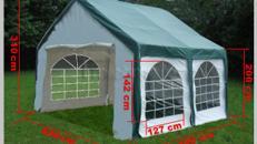 Zelt - Pavillon 4 x 4 m grün= 16 m²