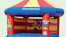 Hüpfburg Zirkus mit Dach mieten, leihen, verleih