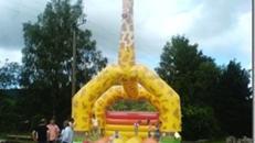 Hüpfburg 6x7 Meter, Giraffe   Inkl. MWSt.