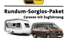 Wohnwagen + VW T5 Zugfahrzeug