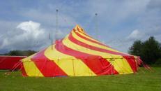 "Zirkuszelt | Circuszelt - 22 Meter rund ""Lollipop"""