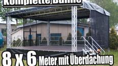 Veranstaltungsbühne / mobile Bühne / Stage 8 x 6 m
