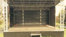 Veranstaltungsbühne / Bühnenwagen / Mobile Bühne 5x4m