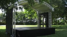 Rundbogenbühne 5x3m