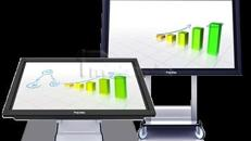 Interaktive Tafel 70 Touch screen als Tisch mieten