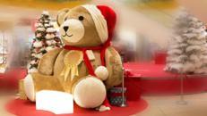 XXL TEDDYBÄR  / Weihnachtsdeko / Winterdeko / Weihnachtskulisse