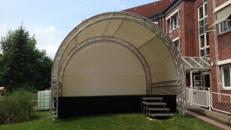 Rundbogenbühne 6x4m; Open-Air Bühne