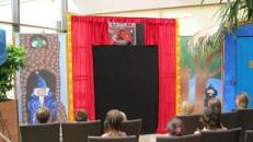 Mobile Nostalgie Puppenbühne / Puppentheater / Kas