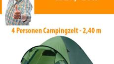 top Iglu Camping Zelt für 4 Mann - 2,40 breit !