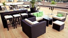 Rattan Lounge für 10 Personen
