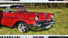 Chevy Bel Air 57 Coupe Film oder Hochzeitsauto