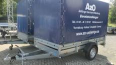 Anhänger mit Hochplane Brenderup 2300 S 1,3 t - Innenhöhe 190 cm