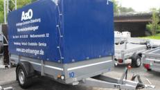 Anhänger mit Hochplane Brenderup 2300 S 1,3 t - Innenhöhe 160 cm