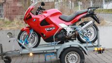 Motorradanhänger für schwere Motorräder ab 10 EURO