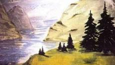 Fjord Kulisse, Kulisse, Fjord, Talsee, See, Skandinavien, Norwegen, Schweden, Finnland, Dekoration, Event, Messe