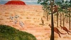 Ayers Rock Kulisse, Ayers, Rock, Ayers Rock, Kulisse, Australien, Uluru, Fels, Landschaft, Dekoration, Party, Event