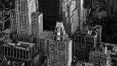 New York Schwarz/Weiß Kulissen, Kulisse, New York, Schwarz/weiß, Stadtkulisse, Hochhaus, Wolkenkratzer, USA, Amerika