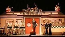 Amerika Diner Kulisse, Diner, Kulisse, Amerika, USA, Restaurant, amerikanisch, Burger, American Diner, Party, Event