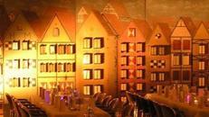 Köln Altstadt Kulisse, Altstadt, Kulisse, Köln, Hausfassade, Fassade, Stadtkulisse, Dekoration, Event, Messe