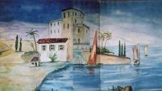 Spanien Mediterran Kulissen, Spanien, Mediterran, Kulisse, Italien, Strand, Meer, Küste, Segelboot, Strandhaus