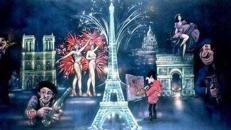 Frankreich total Kulisse, Frankreich, Kulisse, Paris, Arc de Triomphe, Triumphbogen, Eiffelturm, Dekoration, France