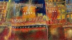 Frankreich Moulin Rouge Kulisse, Frankreich, Kulisse, France, französisch, Moulin Rouge, Paris, Dekoration, Rote Mühle