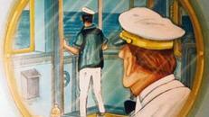 Maritime Schiffs Brücken Kulisse, Schiffsbrücke, Schiff, Schifffahrt, Maritim, Kulisse, Meer, Matrose, Dekoration
