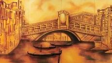 Venedig Rialtobrücken Kulisse, Kulisse, Brücke, Venedig, Dekoration, Italien, Adria, Rialto, italienisch, Kanal, Event