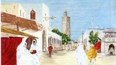 Marrakesch Kulisse, Marrakesch, Kulisse, Dekoration, Marokko, Afrika, afrikanisch, Event, Messe, Veranstaltung, leihen