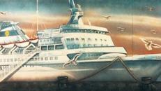 Kreuzfahrtschiff im Hafen Kulisse, Kreuzfahrt, Kreuzer, Kreuzfahrtschiff, Hafen, Kulisse, Meer, Ozean, Schifffahrt