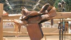 Pferdesattel, Sattel, Pferd, Reitsattel, reiten, Reittier, Dekoration, longieren, Manege, Event, Messe, Veranstaltung