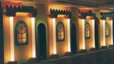 Maurische Palastwand, Maurisch, Orient, orientalisch, 1001 Nacht, Palastwand, Palast, Arabisch, Arabien, Kulisse, Wand