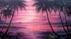 Rio Beach Sonnenuntergang Kulisse, Kulisse, Sonnenuntergang, Beach, Strand, Rio, Rio de Janeiro, Strandkulisse
