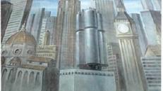 London Skyline Kulisse, London, Skyline, Kulisse,Big Ben, Hauptstadt, Sky Line, Großstadt, Stadt, England, Brtisch